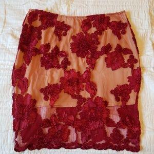 2 layer skirt floral skirt